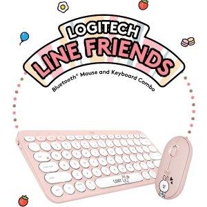 $49.99, 套装$109.98新品上市:罗技 x Line Friends 联名无线键鼠套装