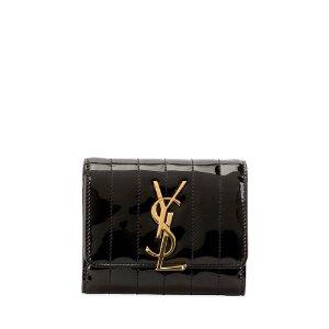 Saint Laurent$100 Gift Card RewardVicky YSL Monogram Compact Trifold Wallet
