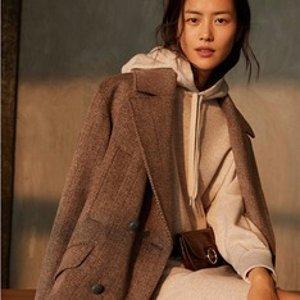 €42.99收表姐刘雯同款H&M 冬季呢子混羊毛oversize大衣 5.3折热卖 穿出摩登高级感