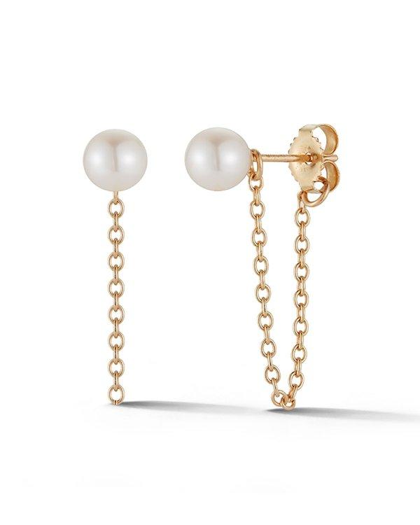 14k 珍珠耳饰