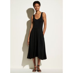 VinceFull Skirt Scoop Neck Dress