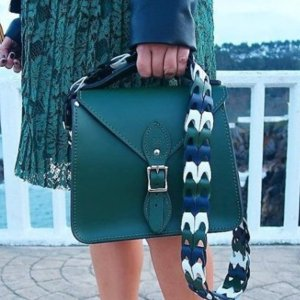 额外85折Gweniss 绿色英伦风手工定制包包