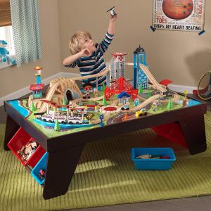 $113.11(原价$237.49)KidKraft Aero  航空城市主题火车玩具桌