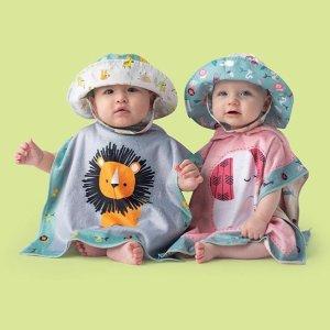 低至3折 婴儿遮阳帽2个$4.5白菜价:FlapJackKids 儿童渔夫帽 萌娃户外必备 立体鲨鱼帽$12