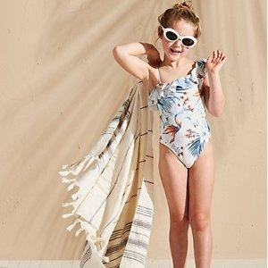 低至4.5折 低至$9.9起夏日男女童泳衣 户外玩具等优惠