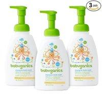 BabyGanics 无香型宝宝洗发沐浴液, 3 瓶