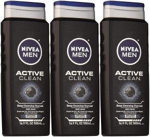 $8.04+FSNIVEA Men Active Clean Body Wash  16.9 Fluid Ounce