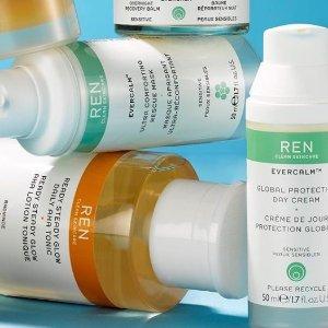 无门槛78折+满£25送豪礼REN 英国高端护肤品牌热促  纯净护肤的正确选择