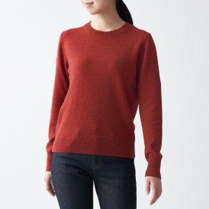 Muji酒红色毛衣