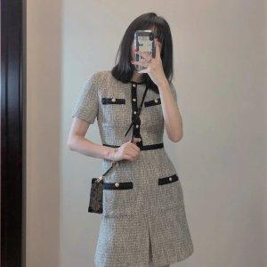Maje36码补货!还有40/42码!银色针织连衣裙