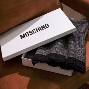 Select  Moschino Boxed Logo Blankets @ Century 21 Stores