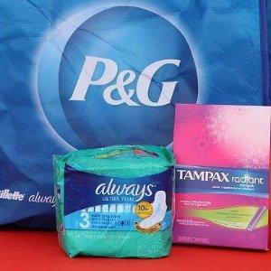 £2.5/包,日用 夜用 护垫全都有Always 卫生巾、Tampax 棉条闪促 清爽舒适度过姨妈期