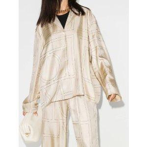 TotemeSanville monogram silk blouse | Browns