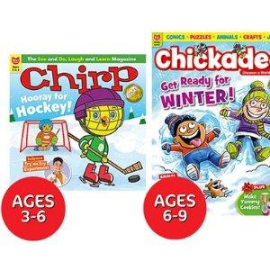 现价$24.65(原价$59.33)WagJag 少儿读物1年订阅 适合3-13岁儿童 让宝宝快乐的学习