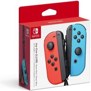 $66.9 包邮Nintendo Switch Joy-Con 无线手柄 经典红蓝色