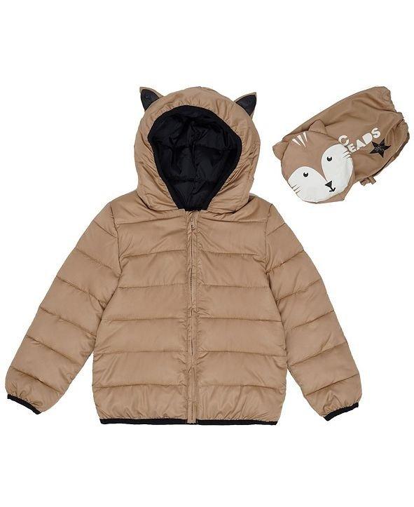 小童小狐狸可压缩保暖外套,带收纳包