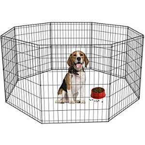 "Amazon.com : MidWest Foldable Metal Exercise Pen / Pet Playpen, 24""W x 30""H : Pet Playpens : Home & Kitchen"