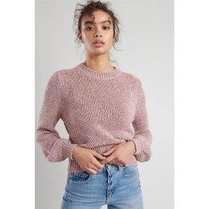 GarageOnline Only | Bubble Sleeve Knit Sweater