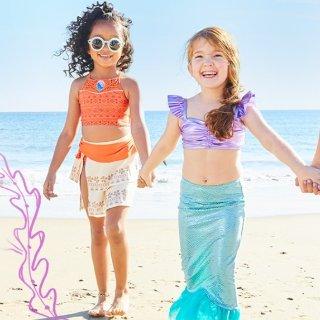 7.5折起迪士尼官网 儿童泳衣、墨镜、泳具等海边用品
