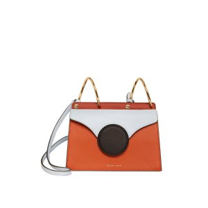 Danse LenteMini Phoebe Blue And Orange Shoulder Bag by Danse Lente