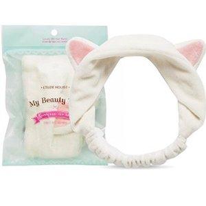 $4.89 近期好价Etude House 猫耳朵洗脸发箍 可爱又好用