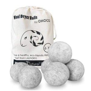OHOCO  可重复使用烘干羊毛球 6个