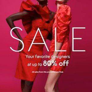 低至2折+额外7.5折THE OUTNET 设计师品牌美衣美鞋热卖