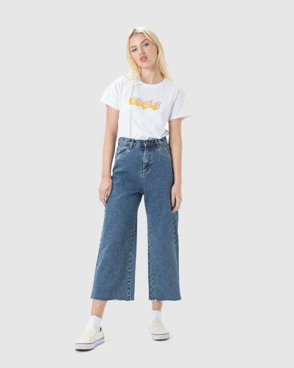Cools 阔腿牛仔裤