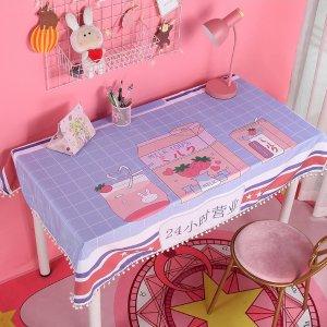 限时4折 仅€4.85起收少女风桌布热促 草莓牛奶、独角兽款都有 甜美装扮书桌化妆桌