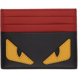 $320 (官网$360)Fendi 小怪兽红色卡包定价优势