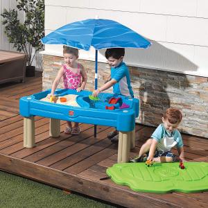 $59.98(原价$129.93)Step2 Cascading Cove二合一沙水游戏桌带遮阳伞