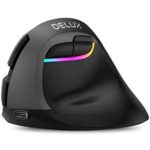 $22.9DELUX M618mini Vertical Wireless Mouse