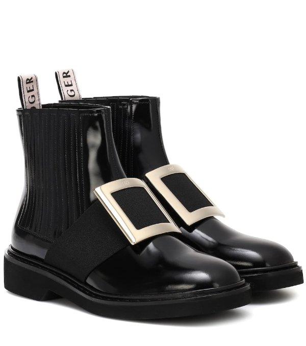 方扣马丁靴