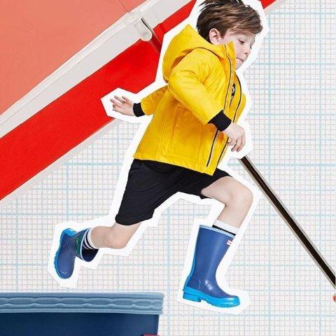 低至5折  经典雨鞋$49Hunter 特价区上新 儿童雨天装备热卖