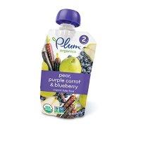 Plum Organics 有机宝宝2阶段果泥 梨+紫胡萝卜+蓝莓 12包