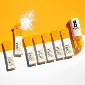 超高9件好礼(价值超$135)Clinique 新产品Fresh Pressed VC修复系列热卖  美白,抗氧化一手抓