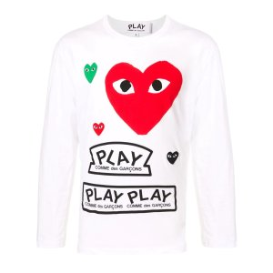 Comme des Garcons Play桃心T恤