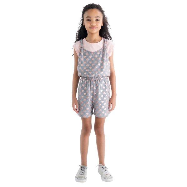 Blush 儿童T恤+连体裤套装