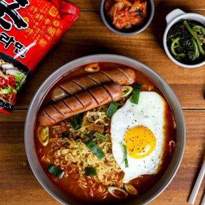 懒人厨房必备 一顿美味仅€1.1农心Nong Shim 经典辛拉面 搭配芝士片 浓郁辛辣超好吃