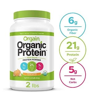 $14.41Orgain Organic Plant Based Protein Powder, Peanut Butter