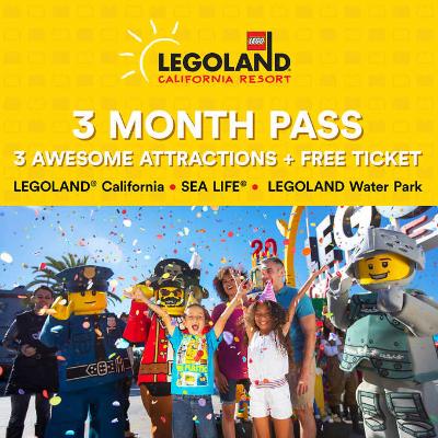 LEGOLAND California 3-Month Pass Resort Hopper eTicket