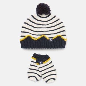 Joules婴幼儿针织帽子手套套装
