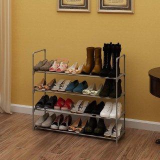 $15.71Homebi 4-Tier Shoe Rack Metal Shoe Tower 20-Pair Shoe Storage Organizer @ Amazon