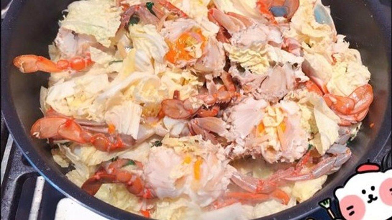 家常菜   蟹炒大白菜