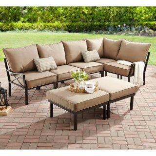 $375Mainstays 5人座户外沙发+长凳7件套
