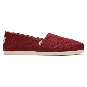 Toms经典红帆布鞋