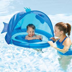 $16.06Swim School 婴儿防晒戏水圈,蓝色
