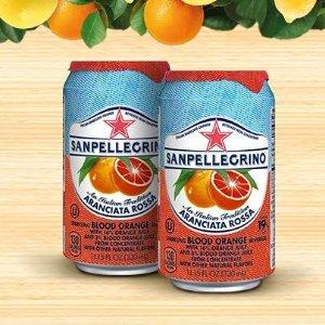 14.02 Sanpellegrino Blood Orange Sparkling Fruit Beverage, 11.15 fl oz. Cans (24 Count)