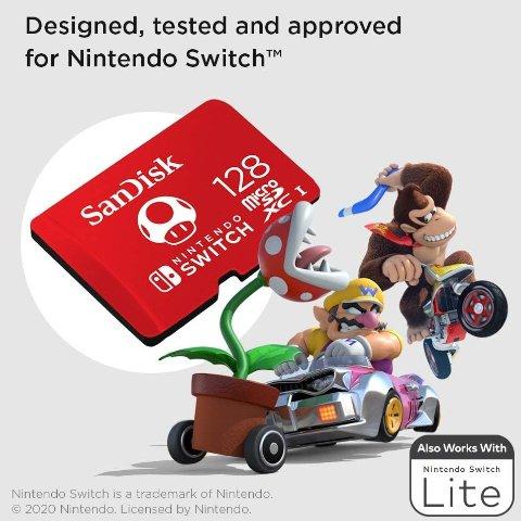 3.8折起 €17.61收任天堂合作款SanDisk闪迪 内存卡、U盘大促 珍藏各种精彩瞬间