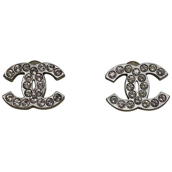 logo水晶耳钉